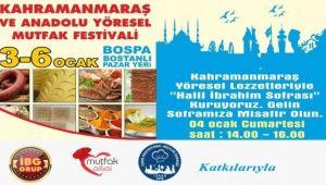 Kahramanmaraş ve Anadolu Yöresel Mutfak Festivali Başlıyor