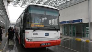 Havalimanı otobüs seferleri şehir içine yönlendirildi