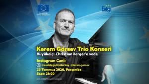 AB Büyükelçisi Berger'e Kerem Görsev'li uğurlama