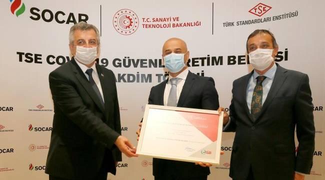SOCAR Türkiye'nin 'güvenli üretimi' TSE tarafından tescillendi