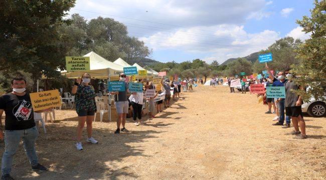 Güzelbahçe'deki Go-Kart Pistine Protesto Devam Ediyor
