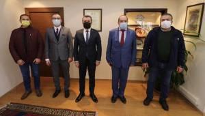 Sagitov'dan Başkan Koştu'ya ziyaret