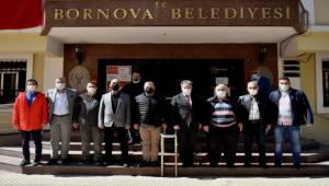 Bornova Kulüpler Birliği yöneticilerini Başkan İduğ'u ziyaret etti